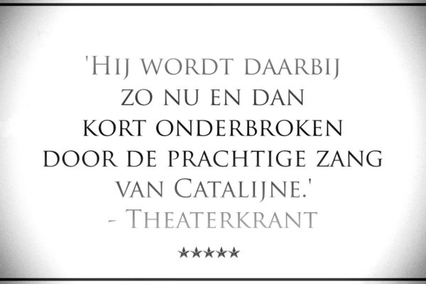 Catalijne, zangeres theater_quote Theaterkrant